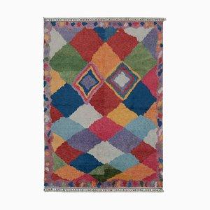 Multicolor Moroccan Handmade Wool Geometric Carpet