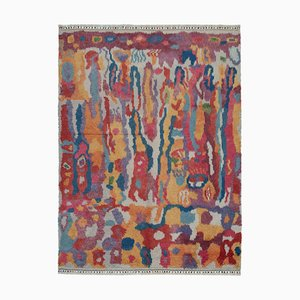 Multicolor Moroccan Hand Knotted Wool Decorative Carpet