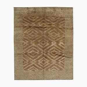 Brown Moroccan Handwoven Long Pile Tribal Carpet
