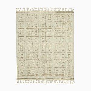 Floraler marokkanischer handgeknüpfter Teppich aus Wolle