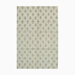 Beige Moroccan Hand Knotted Wool Decorative Carpet