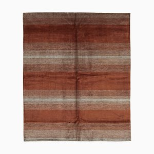 Red Moroccan Hand Knotted Wool Decorative Carpet