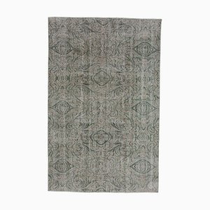 Beige Anatolian Antique Hand Knotted Wool Carpet