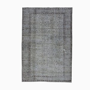 Vintage AnatolianGrey Hand Knotted Wool Carpet