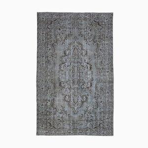 Grey Turkish Wool Handmade Overdyed Carpet