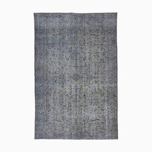 Grey Turkish Decorative Handmade Overdyed Carpet