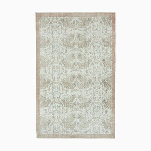 Beige Oriental Traditional Handwoven Overd-yed Carpet