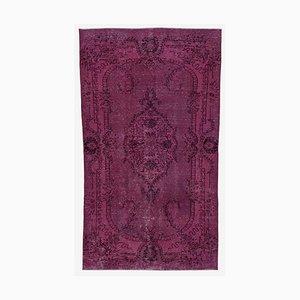 Vintage AnatolianPink Hand Knotted Wool Carpet