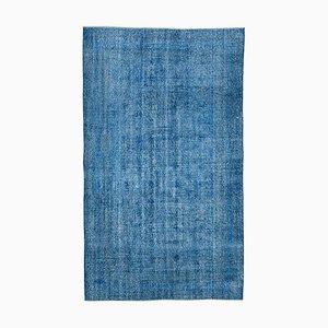 Vintage AnatolianBlue Hand Knotted Wool Carpet