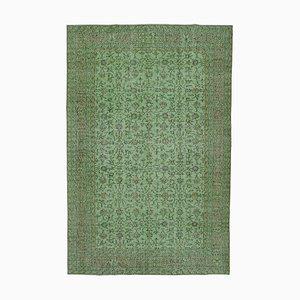 Green Turkish Wool Handmade Overdyed Carpet