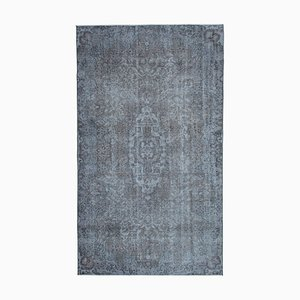 Grey Anatolian Antique Hand Knotted Wool Carpet