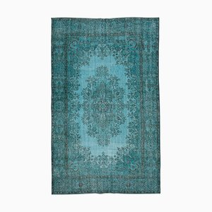 Vintage AnatolianTurquoise Hand Knotted Wool Carpet