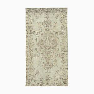 Beige Turkish Handmade Wool Overdyed Carpet