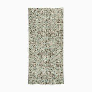 Vintage Orange Oriental Small Wool Carpet
