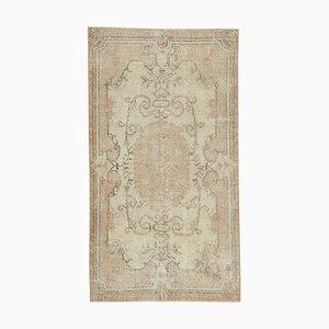 Beige Decorative Handmade Wool Overdyed Carpet