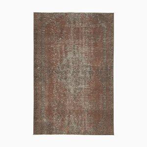 Gelber Vintage Oriental Teppich aus Wolle