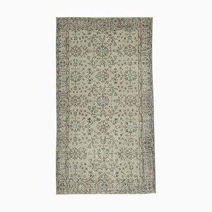 Vintage Beige Oriental Small Wool Carpet