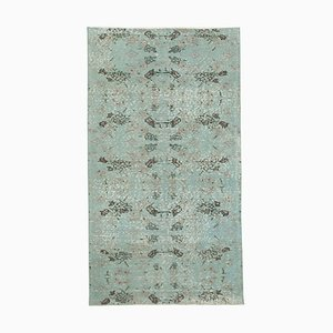 Overdyed Beige Anatolian Hand Knotted Small Carpet