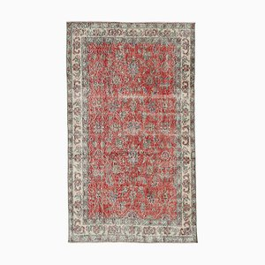 Vintage Grey Oriental Small Wool Carpet