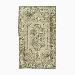 Overdyed Grey Anatolian Hand Knotted Small Carpet