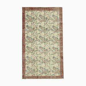 Beige Oriental Handwoven Low Pile Overdyed Carpet