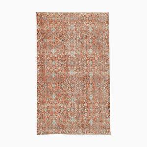 Red Decorative Handmade Wool Overdyed Carpet