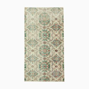 Overdyed Red Anatolian Hand Knotted Small Carpet