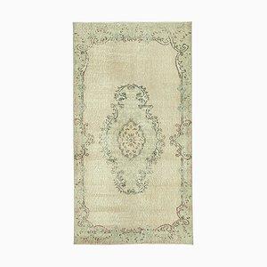 Vintage Green Oriental Small Wool Carpet