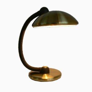 Lámpara de mesa alemana de latón de Hustadt Leuchten, años 70