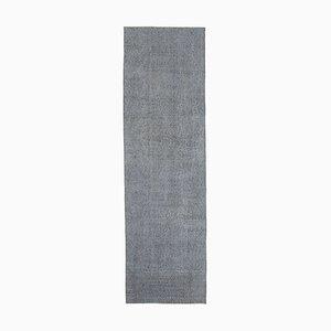 Grey Decorative Handwoven Antique Overdyed Runner Carpet