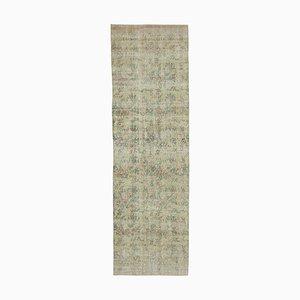 Beige Traditional Handwoven Antique Overdyed Runner Carpet
