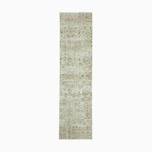 Beige Oriental Handwoven Antique Overdyed Runner Carpet