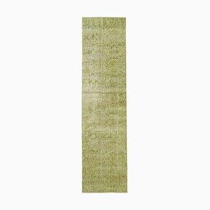 Orientalischer Teppich aus handgeknüpfter grüner Wurzel