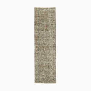 Red Decorative Handwoven Antique Overdyed Runner Carpet