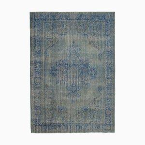 Grey Decorative Handwoven Antique Large Overdyed Carpet