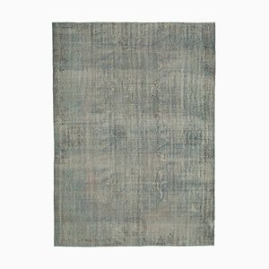 Grey Antique Handmade Wool Large Overdyed Carpet