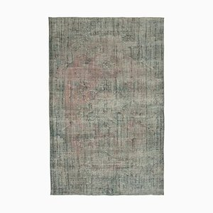 Grey Turkish Handwoven Antique Large Overdyed Carpet
