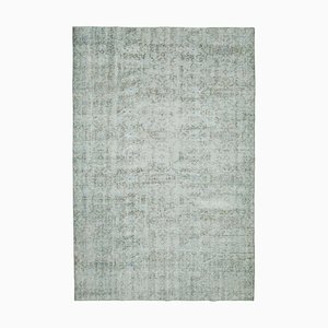 Grey Traditional Handwoven Antique Large Overdyed Carpet