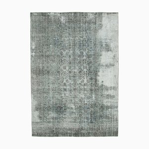 Grey Anatolian Handwoven Antique Large Overdyed Carpet