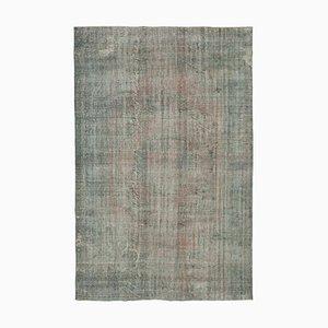 Grey Oriental Handwoven Antique Large Overdyed Carpet