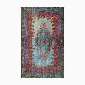 Multicolor Turkish Handmade Wool Overdyed Carpet