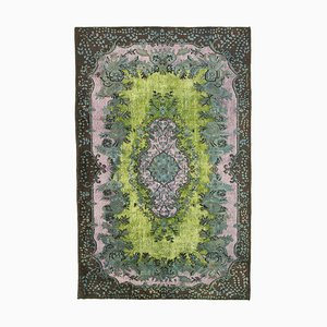 Brown Turkish Handmade Wool Overdyed Carpet