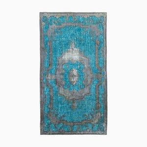 Grey Turkish Handmade Wool Overdyed Carpet