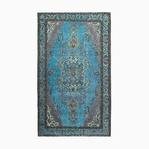Blue Overdyed Handmade Wool Large Carpet