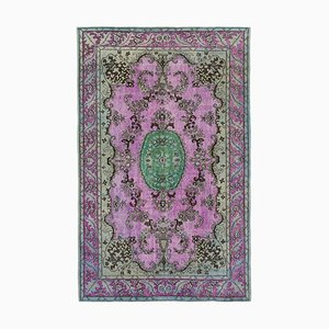Pink Decorative Handmade Wool Overdyed Carpet
