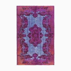 Fuchsia Overdyed Handmade Wool Large Carpet