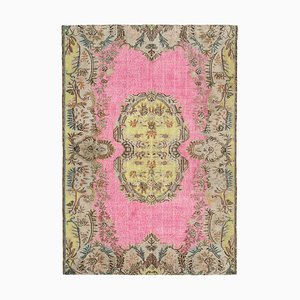 Pink Overdyed Handmade Wool Large Carpet
