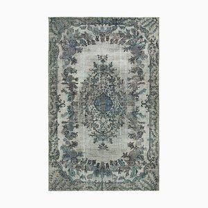 Grey Decorative Handmade Wool Overdyed Carpet