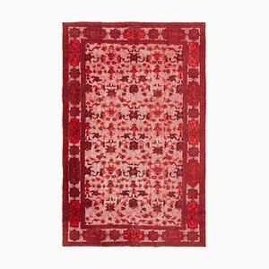 Red Turkish Handmade Wool Overdyed Carpet