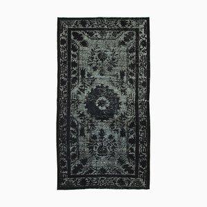 Black Turkish Handmade Wool Overdyed Carpet